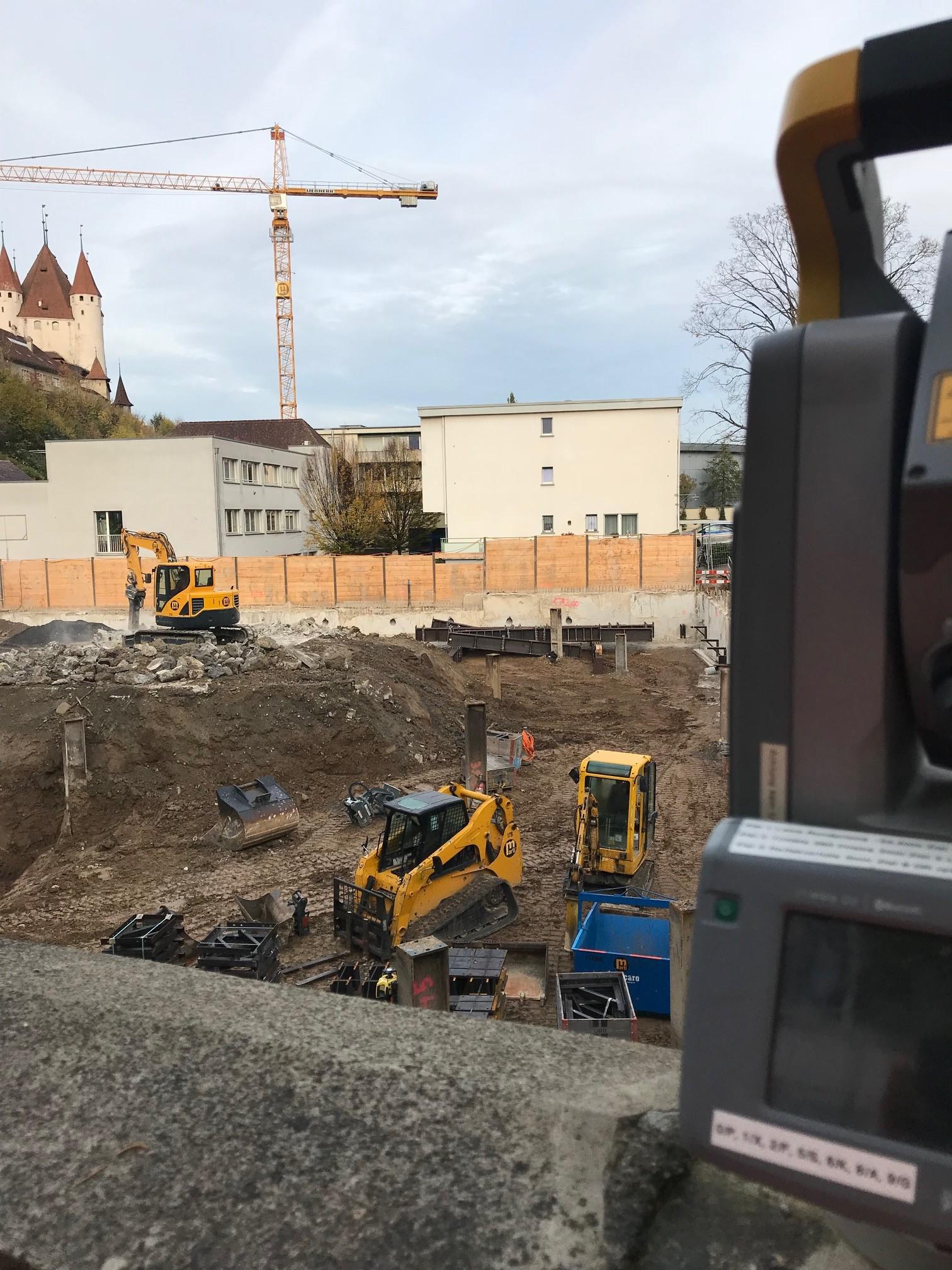 Blick in die Baugrube