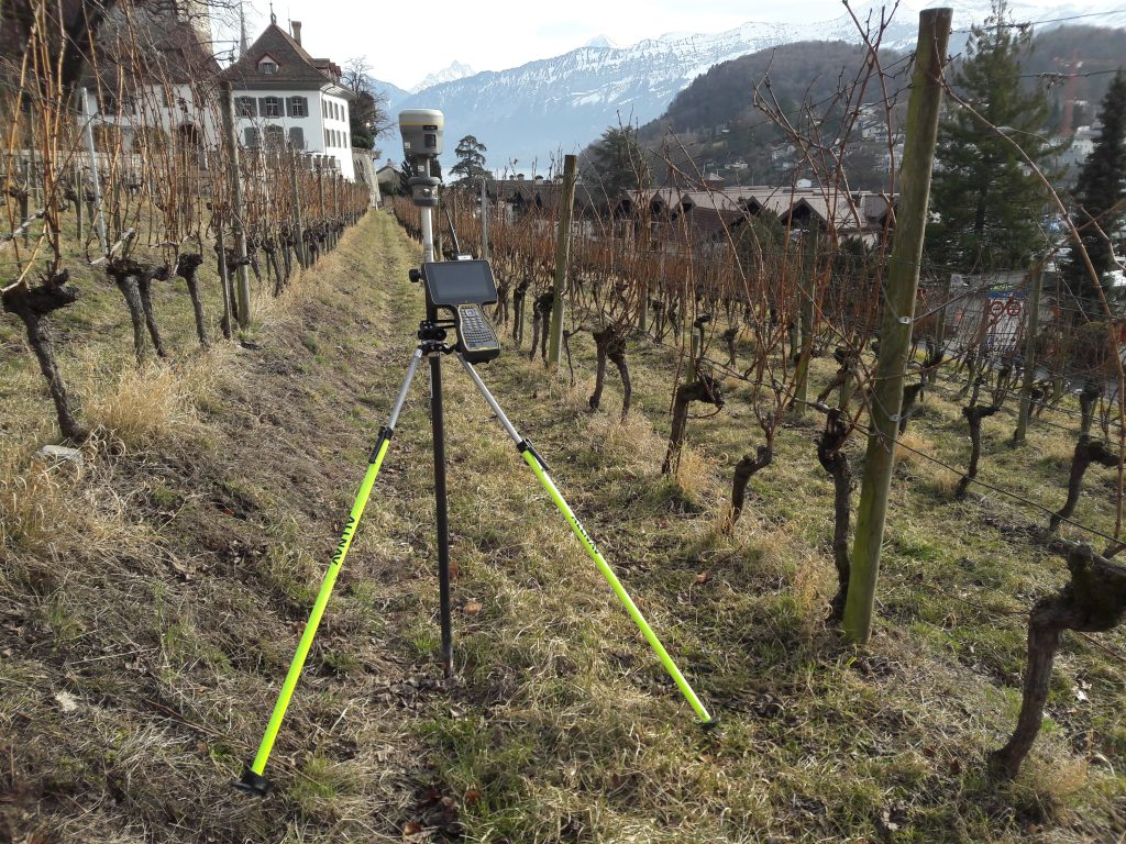 GNSS Aufnahme Rebbauhaus Spiez
